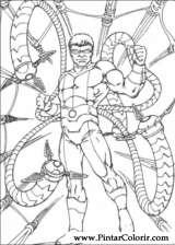 Pintar e Colorir Homem Aranha - Desenho 072