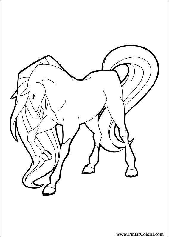 Pintar e Colorir Horseland - Desenho 003