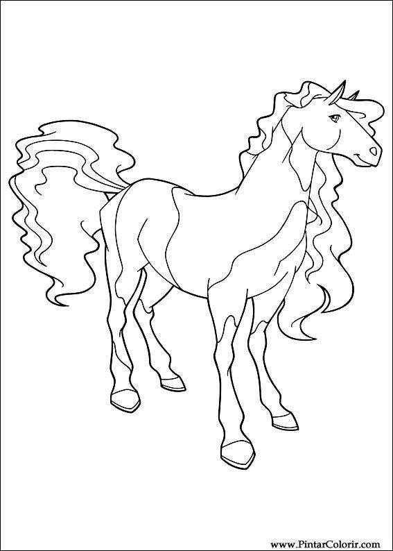 Pintar e Colorir Horseland - Desenho 006