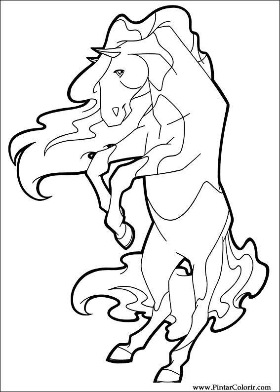 Dessins De Peindre Et Couleur Horseland Imprimer Conception 014