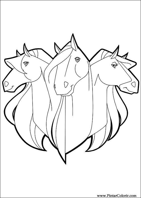 Pintar e Colorir Horseland - Desenho 024