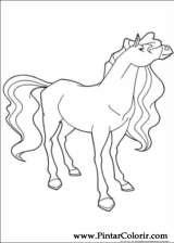 Pintar e Colorir Horseland - Desenho 013