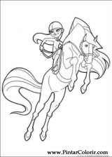 Pintar e Colorir Horseland - Desenho 016