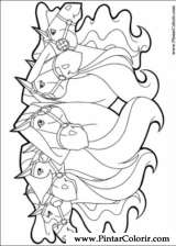 Pintar e Colorir Horseland - Desenho 023