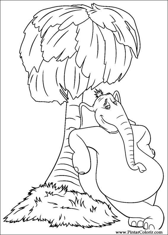 Pintar e Colorir Horton - Desenho 001