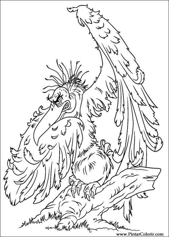 Pintar e Colorir Horton - Desenho 002