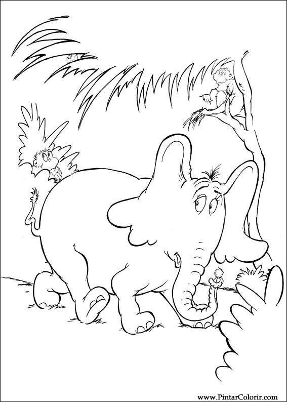 Pintar e Colorir Horton - Desenho 057