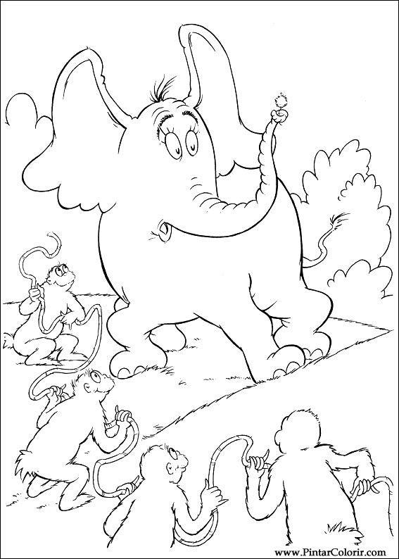Pintar e Colorir Horton - Desenho 059