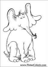 Pintar e Colorir Horton - Desenho 010