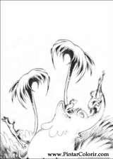 Pintar e Colorir Horton - Desenho 019