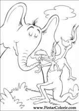 Pintar e Colorir Horton - Desenho 066