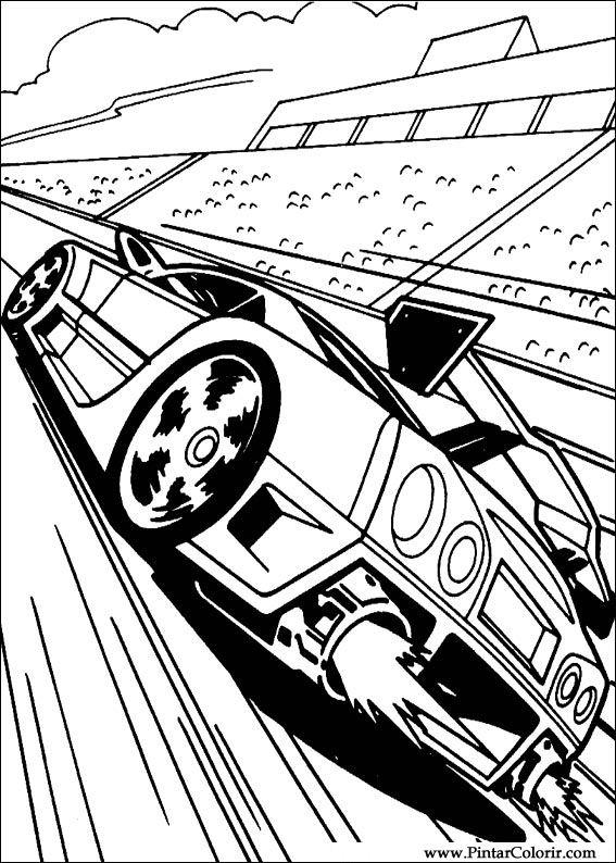 Pintar e Colorir Hot Wheels - Desenho 001