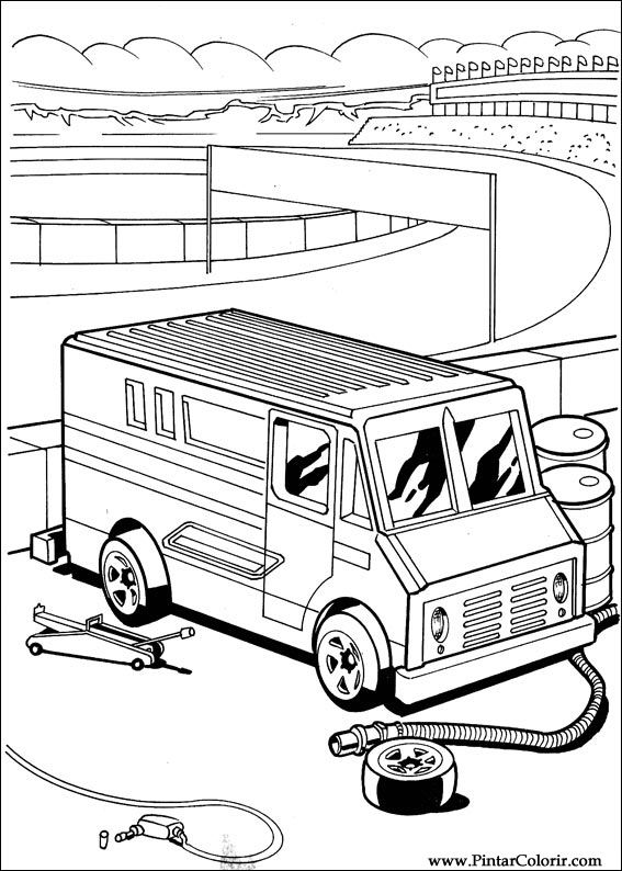 Pintar e Colorir Hot Wheels - Desenho 004