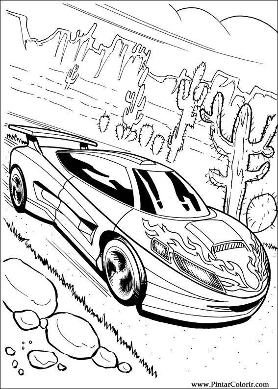 Desenhos Para Pintar E Colorir Hot Wheels Imprimir Desenho 005