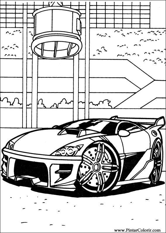 Desenhos Para Pintar E Colorir Hot Wheels Imprimir Desenho 007