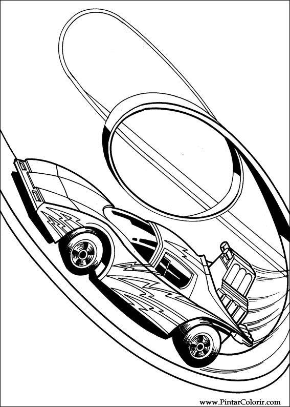 Dibujos Para Pintar Y Color Hot Wheels Diseño De Impresión 010