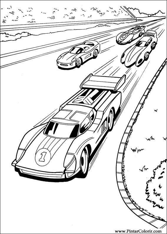 Desenhos Para Pintar E Colorir Hot Wheels Imprimir Desenho 012