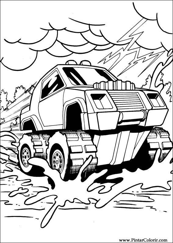 Dibujos Para Pintar Y Color Hot Wheels Diseño De Impresión 017
