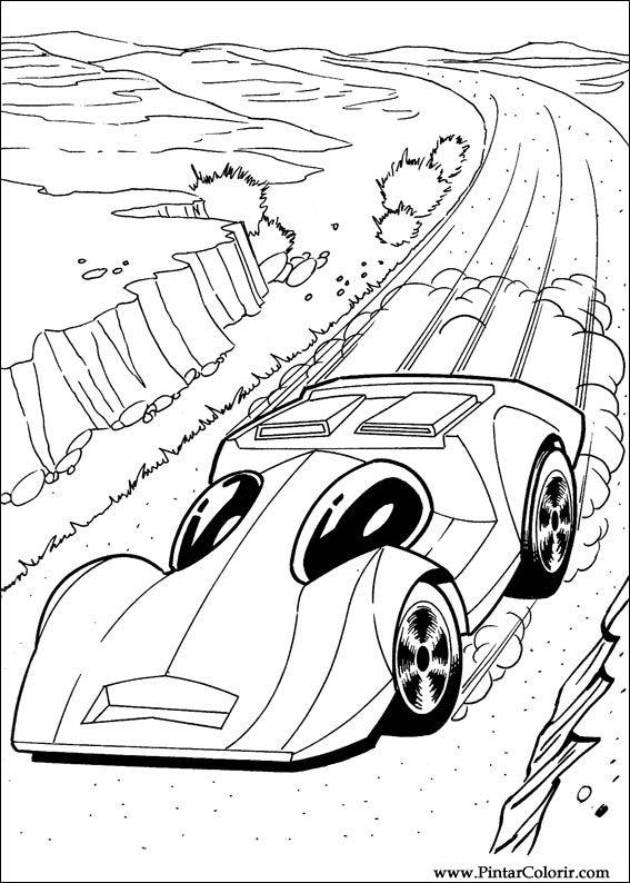 Dibujos Para Pintar Y Color Hot Wheels Diseño De Impresión 019