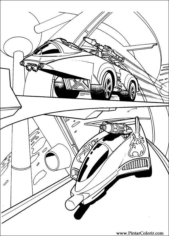Desenhos Para Pintar E Colorir Hot Wheels Imprimir Desenho 024