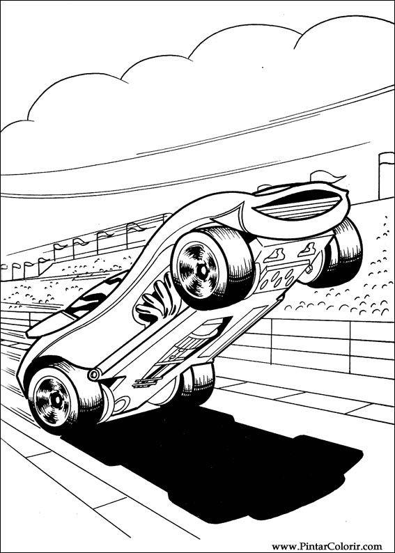 Dibujos Para Pintar Y Color Hot Wheels Diseño De Impresión 026
