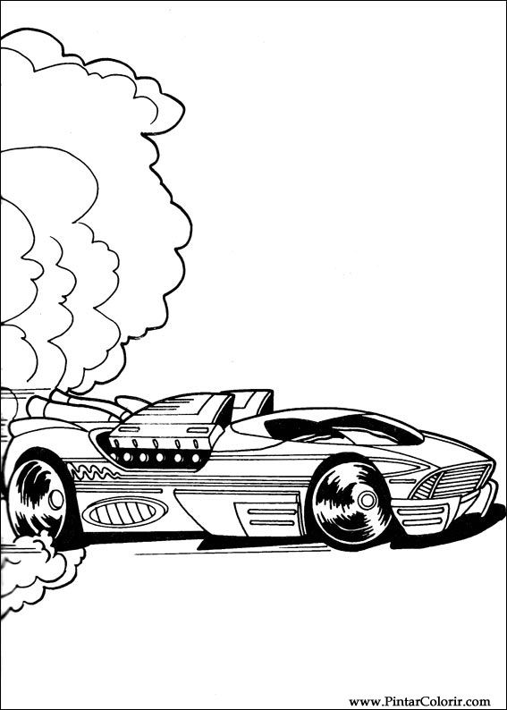 Dibujos para pintar y Color Hot Wheels - Diseño de impresión 034