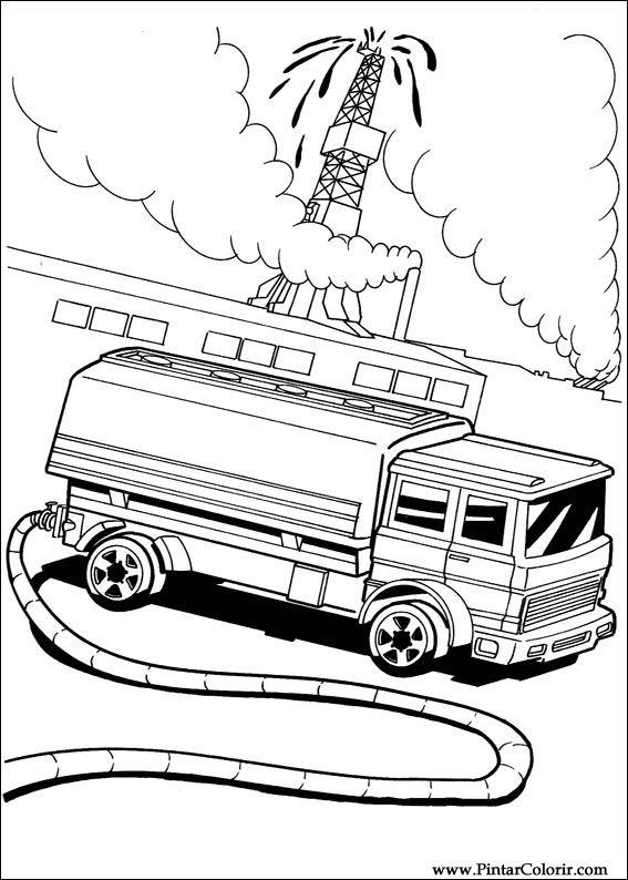 Dibujos Para Pintar Y Color Hot Wheels Diseño De Impresión 038
