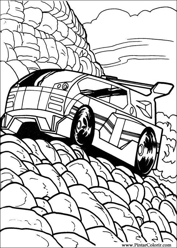 Dibujos para pintar y Color Hot Wheels - Diseño de impresión 041