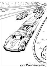 Pintar e Colorir Hot Wheels - Desenho 012