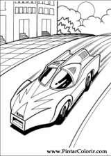 Pintar e Colorir Hot Wheels - Desenho 013