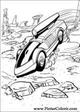 Pintar e Colorir Hot Wheels - Desenho 014
