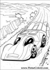 Pintar e Colorir Hot Wheels - Desenho 019