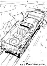 Pintar e Colorir Hot Wheels - Desenho 020