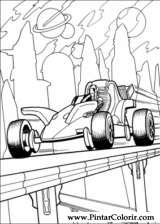 Pintar e Colorir Hot Wheels - Desenho 022