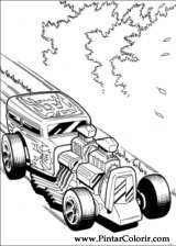 Pintar e Colorir Hot Wheels - Desenho 028
