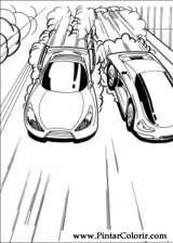 Pintar e Colorir Hot Wheels - Desenho 030