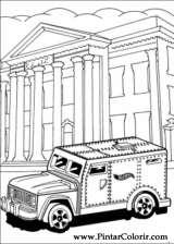 Pintar e Colorir Hot Wheels - Desenho 032