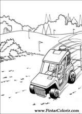 Pintar e Colorir Hot Wheels - Desenho 033