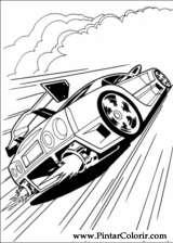 Pintar e Colorir Hot Wheels - Desenho 035
