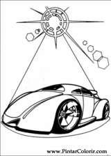 Pintar e Colorir Hot Wheels - Desenho 036