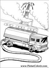 Pintar e Colorir Hot Wheels - Desenho 038