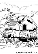 Pintar e Colorir Hot Wheels - Desenho 039