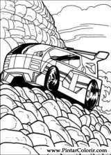 Pintar e Colorir Hot Wheels - Desenho 041