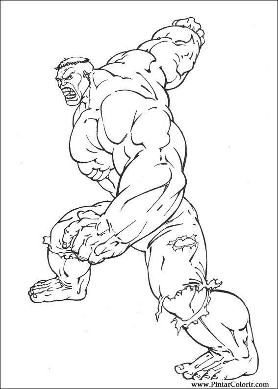 Disegni A Dipingere E Hulk Coloring Stampare Realizzazione 001