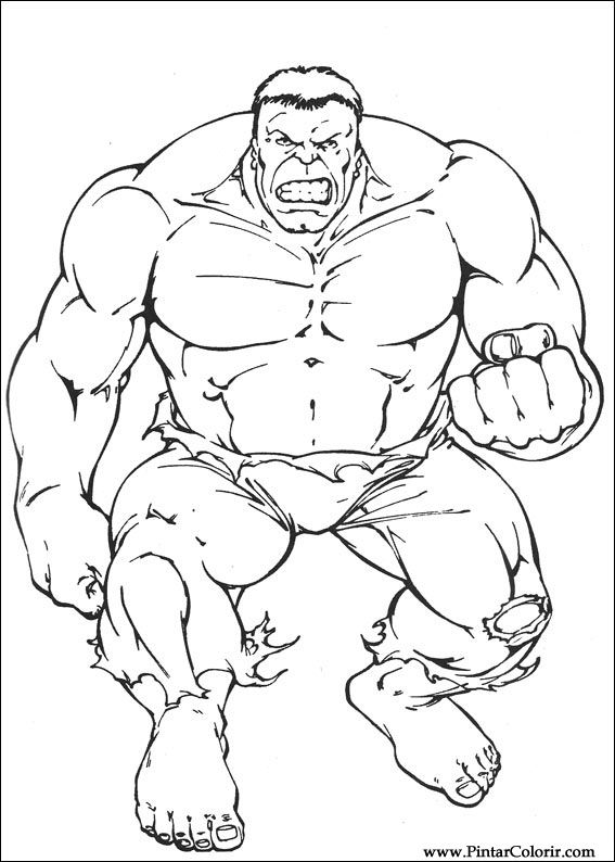 drawings to paint and hulk coloring print design 004