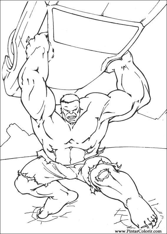 desenhos para pintar e colorir hulk imprimir desenho 006