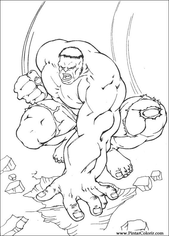 çizimler Boya Ve Hulk Boyama Için Baskı Tasarım 007