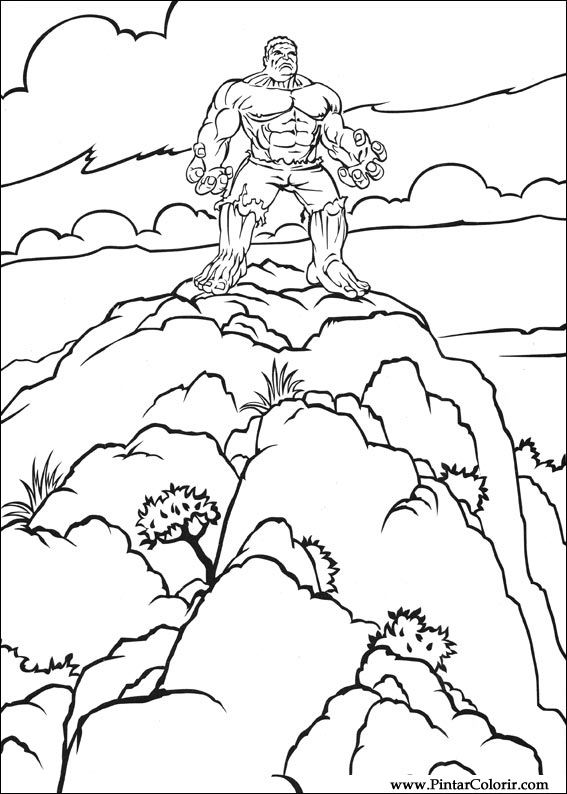 Drawings To Paint And Hulk Coloring Print Design 015