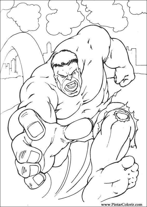 Kleurplaten De Hulk.Tekeningen Om Te Schilderen En Hulk Coloring Print Design 018
