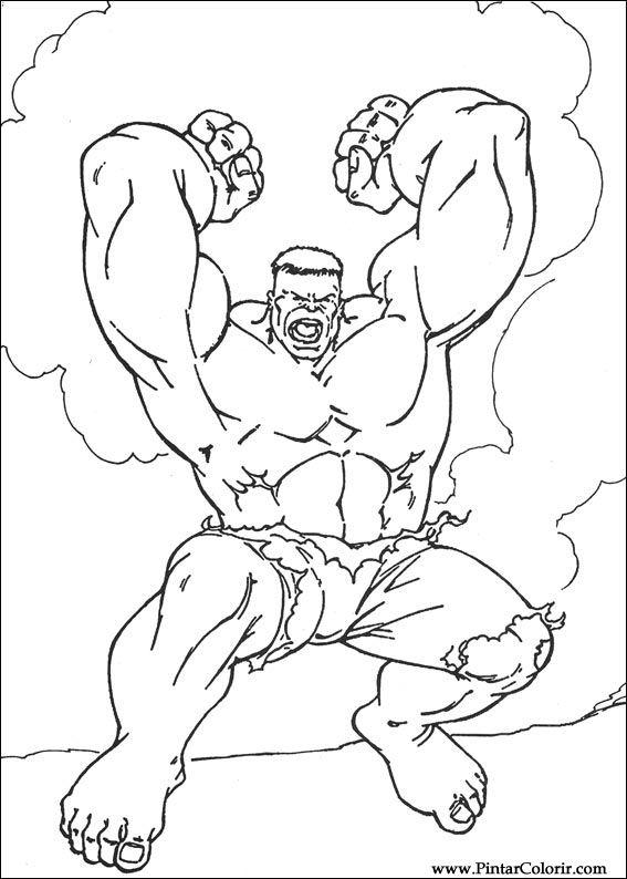 Dessins à Peindre Et Hulk Coloriage Imprimer Conception 019